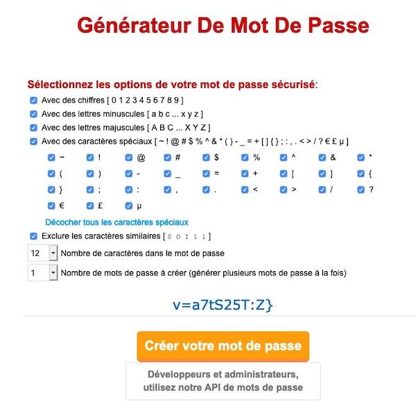 Générateur de mot de passe