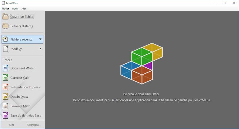Interface de LibreOffice