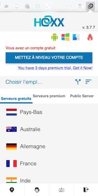 L'extension de navigateur Hoxx pour obtenir un VPN gratuit