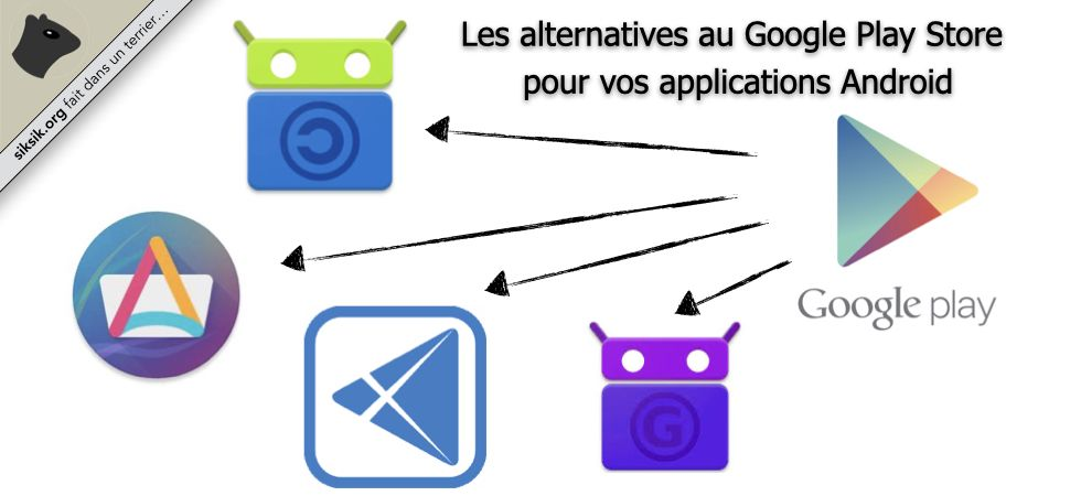 Alternatives au Play Store de Google pour Android