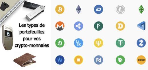 Les portefeuilles pour vos crypto-monnaies