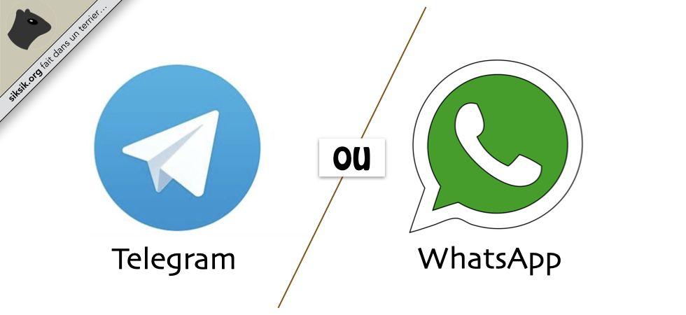 Telegram ou WhatsApp ?