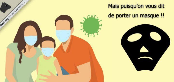 Porter un masque contre le coronavirus (COVID-19)