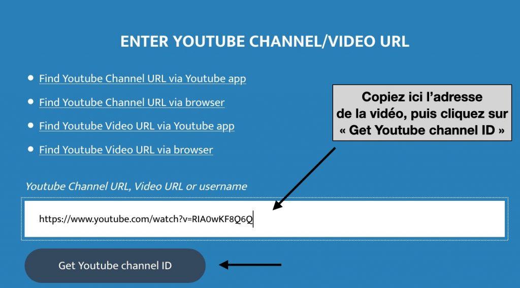 Trouver l'ID d'une chaîne YouTube