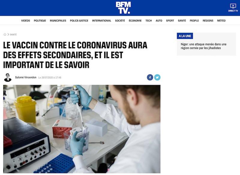 Le vaccin contre le coronavirus aura des effets secondaires, et il est important de le savoir