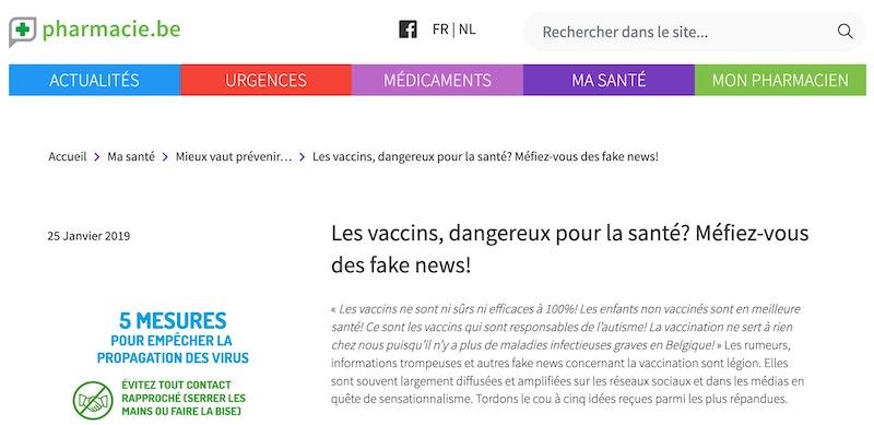 Les vaccins, dangereux pour la santé ? Méfiez-vous des fake news !