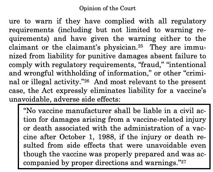 Pas de responsabilité des fabriquants de vaccins aux USA en cas d'effets secondaires