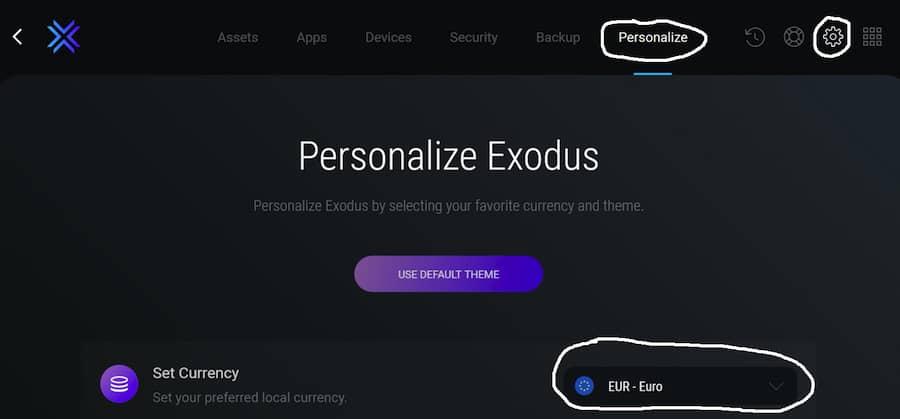 Exodus Portefeuille pour crypto-monnaies