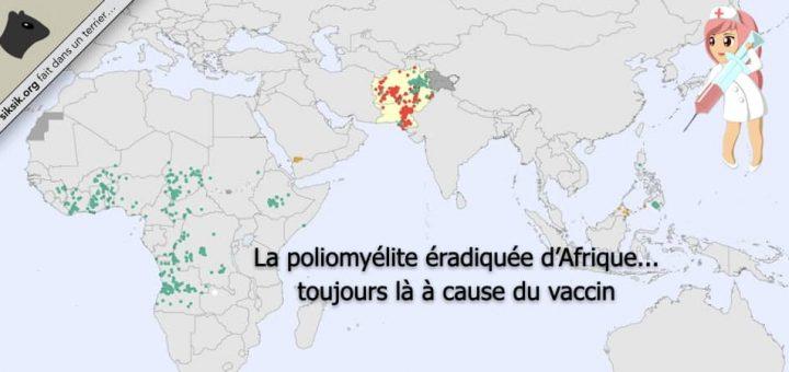 La poliomyélite éradiquée d'Afrique… toujours là à cause du vaccin