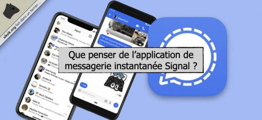 Application de messagerie instantanée Signal