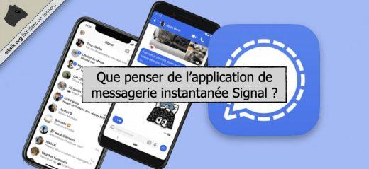 Application de messagerie instantanée Signal