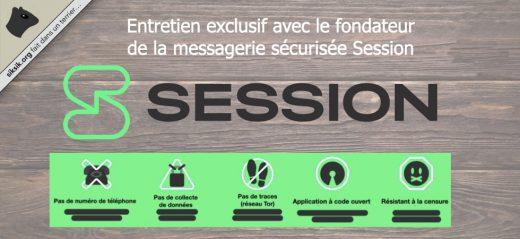 L'application de messagerie privée Session