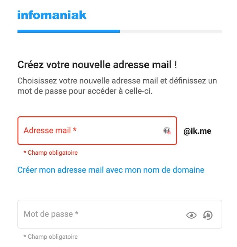 Une adresse email en @ik.me par Infomaniak